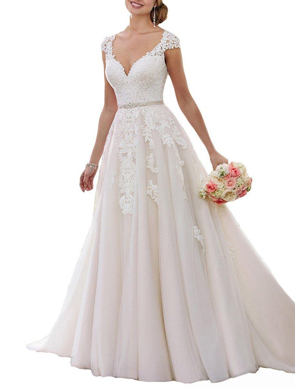 Shoppen Sie NUOJIA A Linie Prinzessin Tüll Spitze Brautkleider