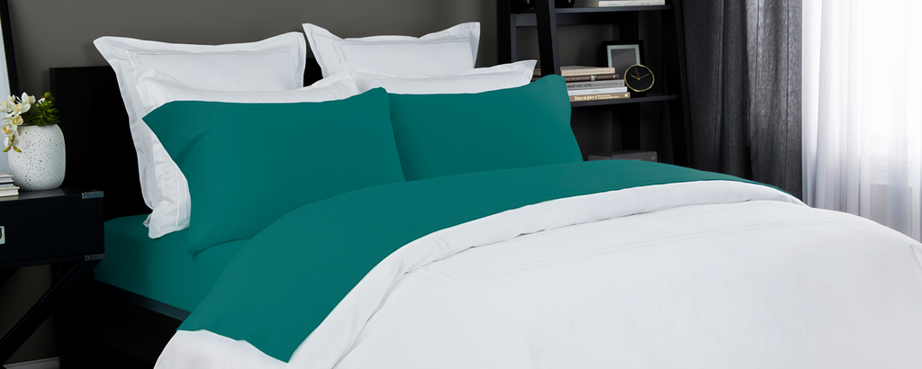 Jersey Knit Sheet In Teal Color Lelaan Offers The Pure Quality Best Prices And S On These Sheets Heather Set