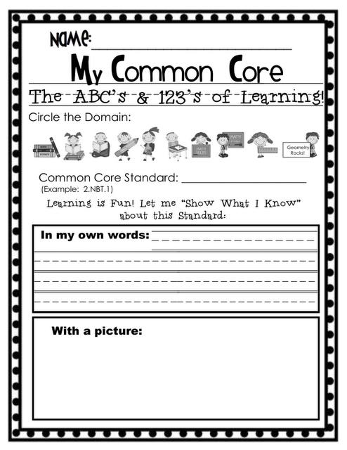 """Sassy in Second: """"My Common Core Standards Based Notebook!"""""""