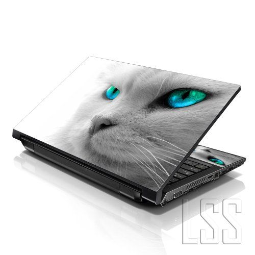 Lss 15 15 6 Inch Laptop Notebook Skin Sticker Cover Art Decal Fits 13 3 14 15 6 16 Hp Dell Lenovo Apple Asus Acer Hp Laptop Skin Cat With Blue Eyes Laptop