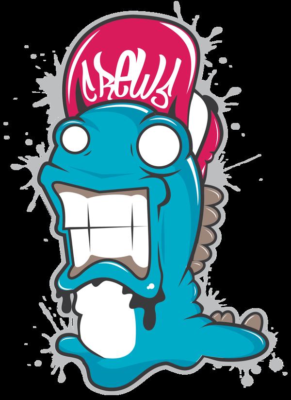 Monster Fish For Crew Five Apparel By Jason Arroyo Via Behance Custom Shirt Design Pinterest 插画
