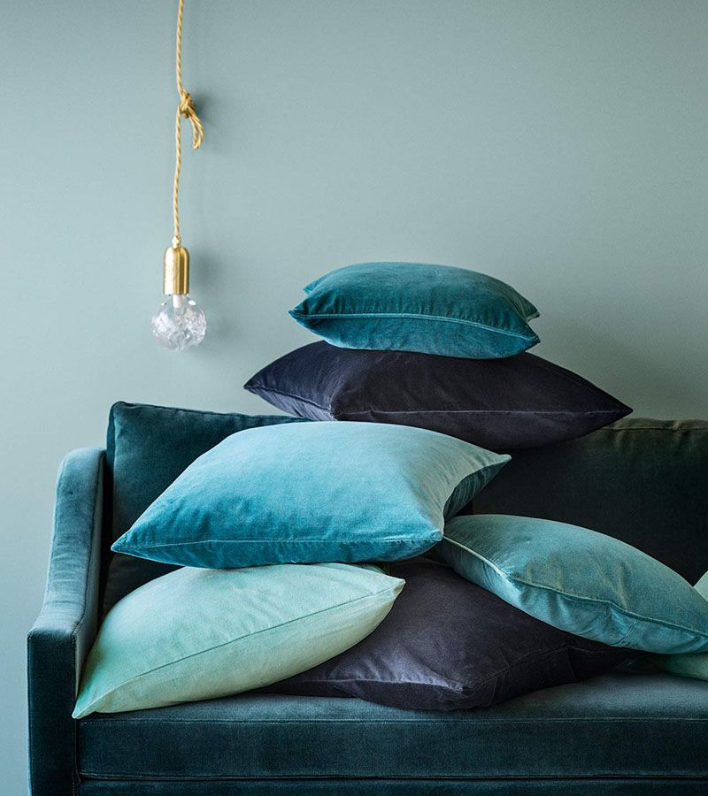 Velvet cushion cover #HMHome