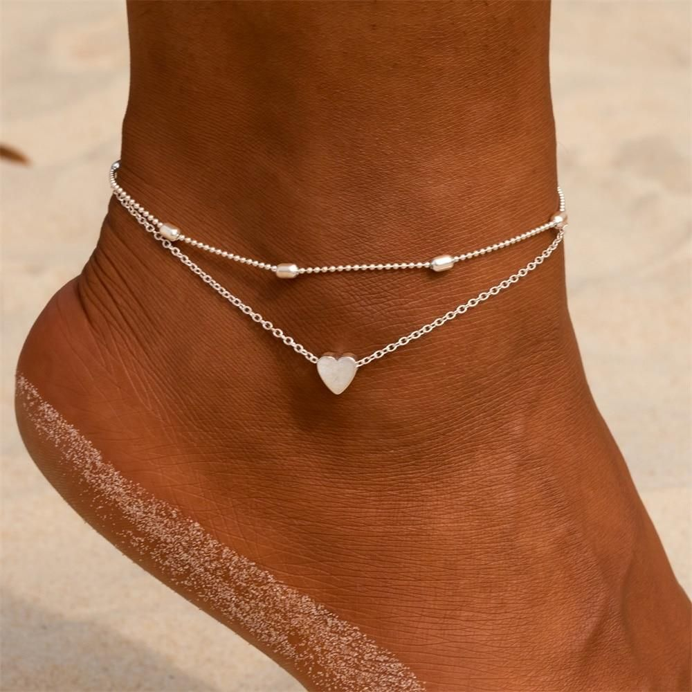 2019 Lady Gold Silver Ankle Bracelet Anklet Adjustable Chain Foot Beach Jewelry