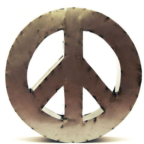 Rustic Arrow 14-Inch Peace Sign Wall Decor ($25) ❤ liked on ...