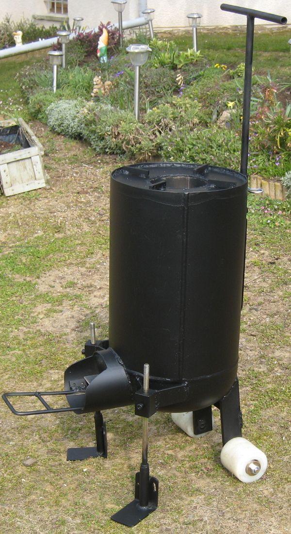 Photo plancha rocket stove philippe pour daniel rocket for Rocket fire heater