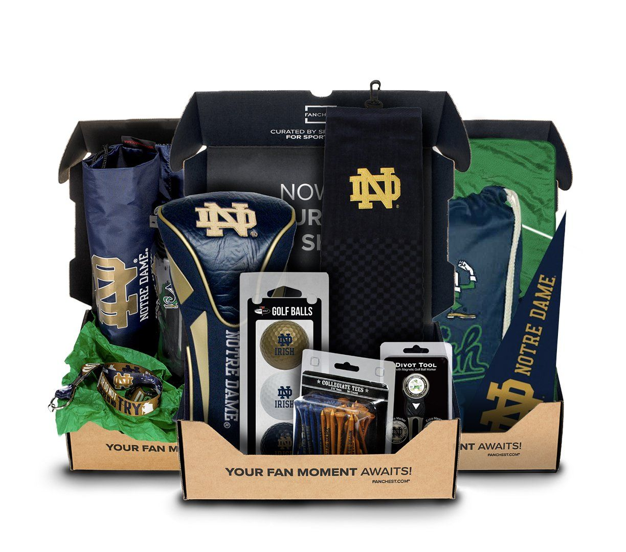 Notre Dame Themed Gift Boxes Golf Collegiate Fanchest