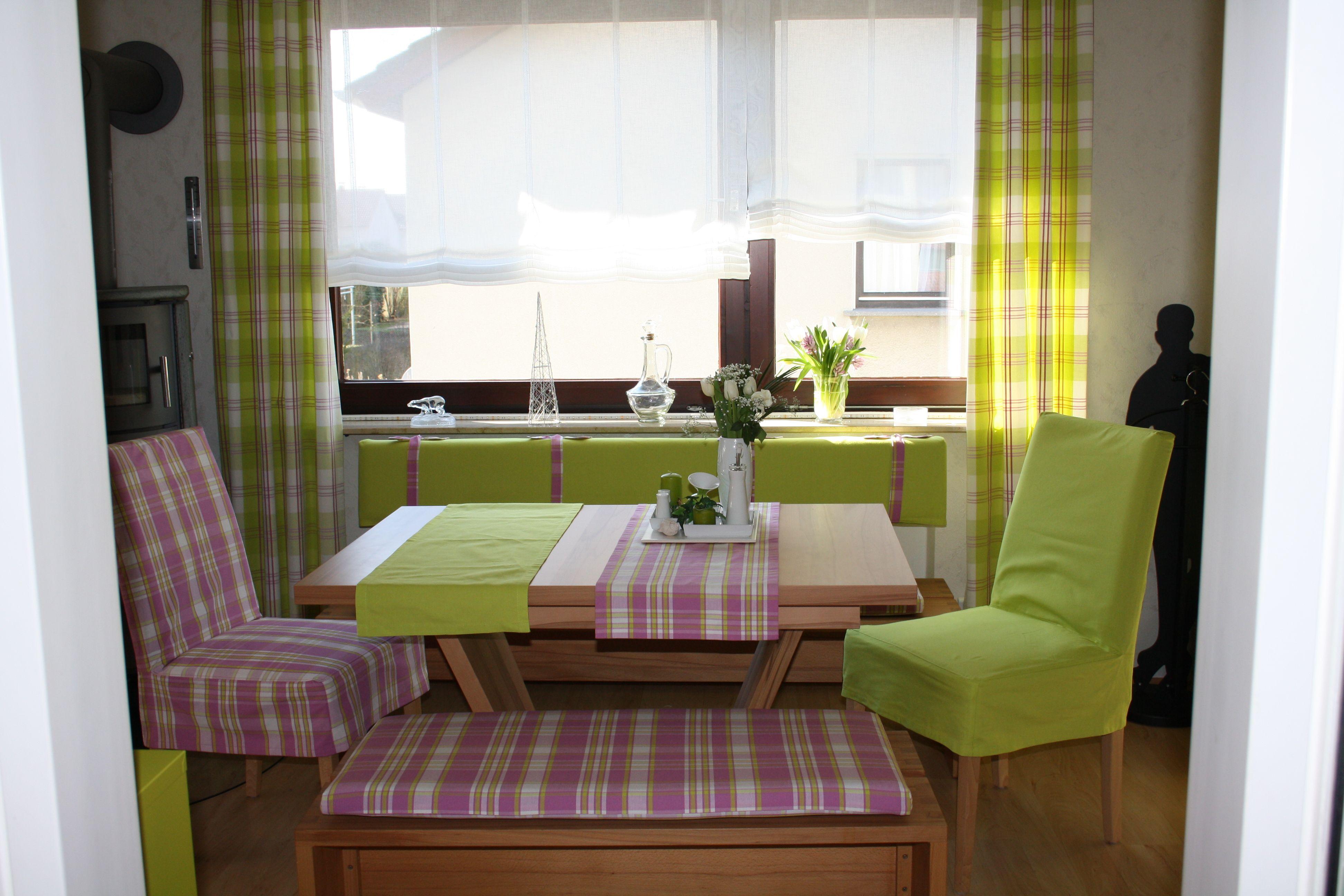 hussen decken raffrollo kissen gardinen diy n hen meins haus deko raffrollo und gardinen. Black Bedroom Furniture Sets. Home Design Ideas