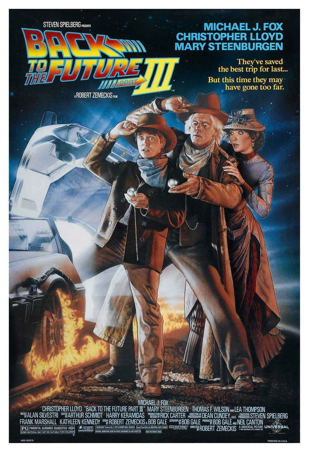 Back To The Future 3 Film Poster Print With Images Back To The