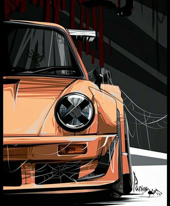 Cartoon Autos Zeichnungen Von Autos Porsche Autos