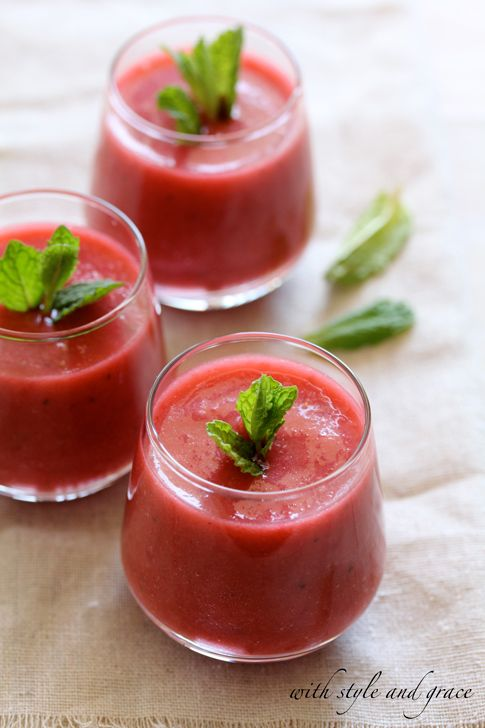 Strawberry Gazpacho.