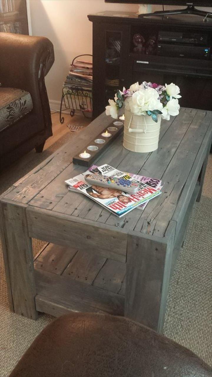 - DIY Wood Pallet Coffee Table Paletes Recicladas, Móveis De