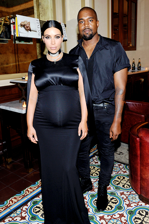 2cab9fdc9c Kanye West and Kim Kardashian attend the CFDA Vogue Fashion Fund Dinner at  Bouchon Beverly Hills on October 20