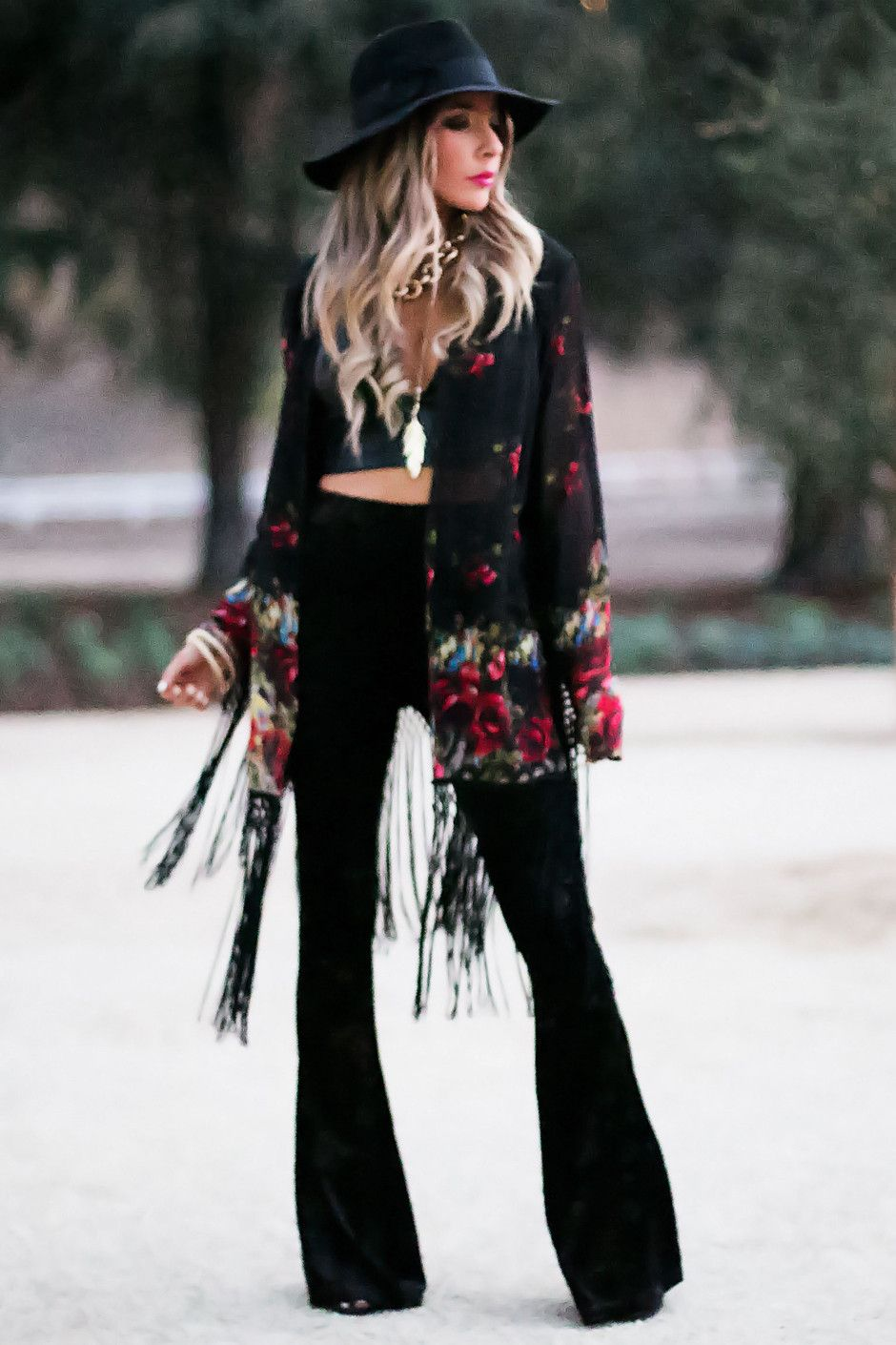 Winter Boho Pants Outfit