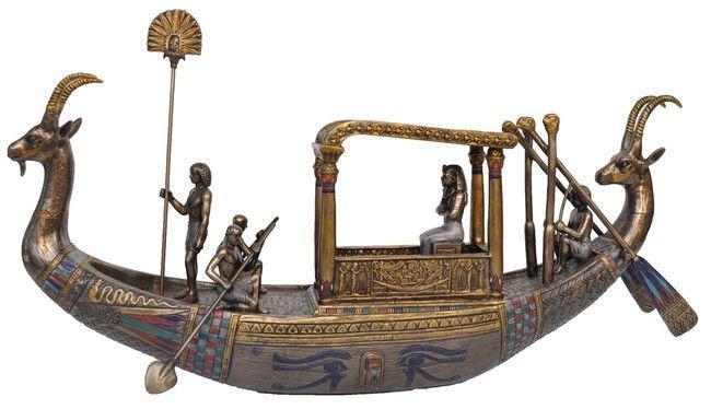 Veronese Bronze Figurine Egyptian Tutankhamun on boat Home Decor Statue in Home & Garden | eBay