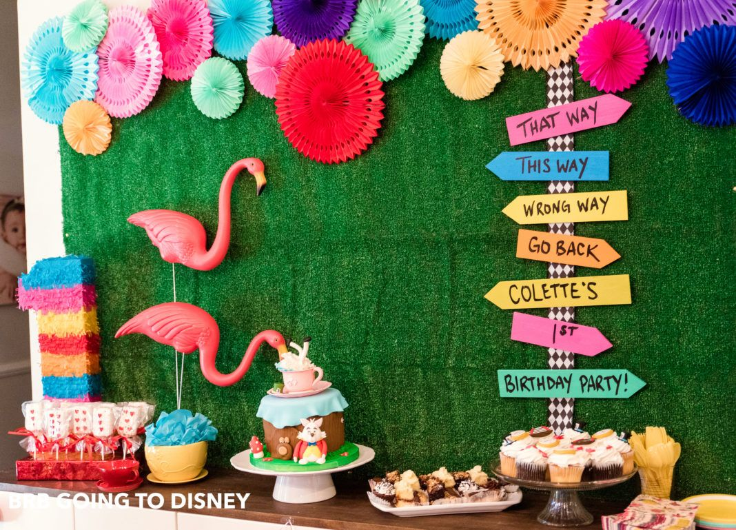 Alice In Wonderland First Birthday Party Brb Going To Disney Wonderland Party Decorations Alice In Wonderland Tea Party Alice In Wonderland Party