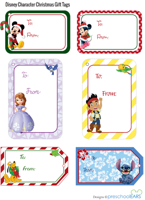 Christmas Gift Tags For Kids.Disney Christmas Gift Tags Holiday Baking Treats Free
