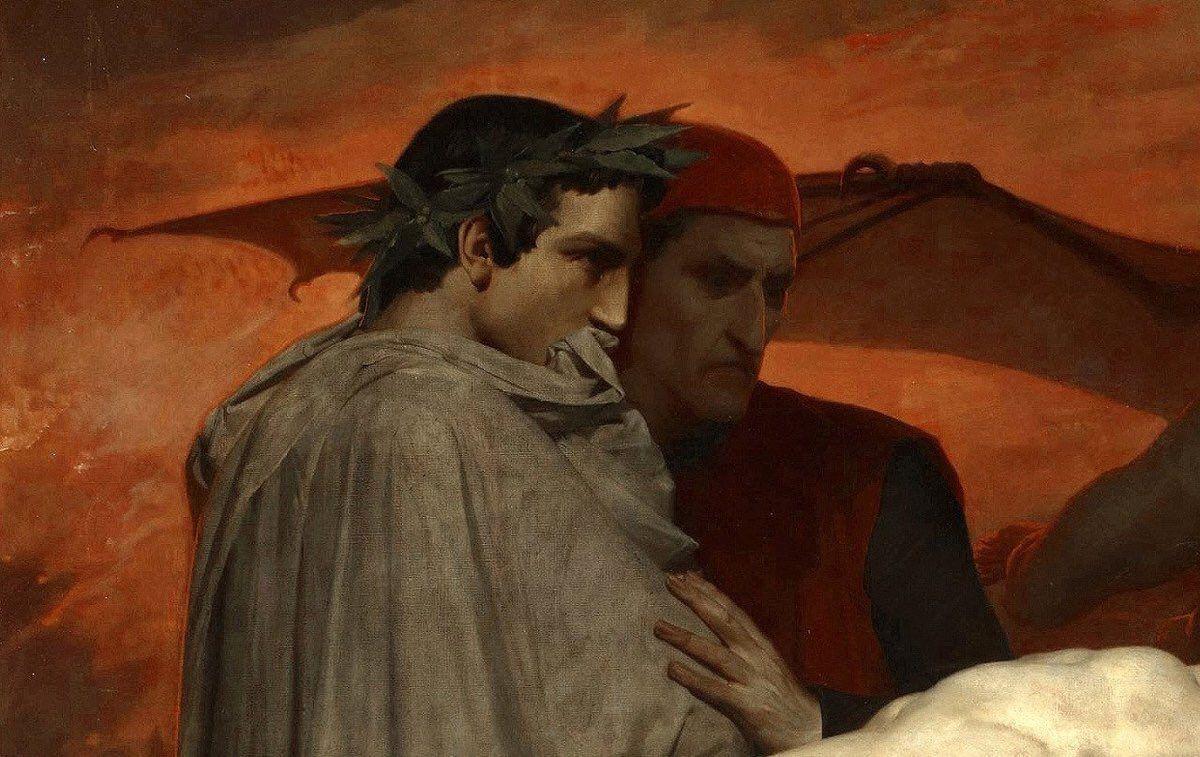 Dante and Virgile Vintage Fine Art Print Bouguereau