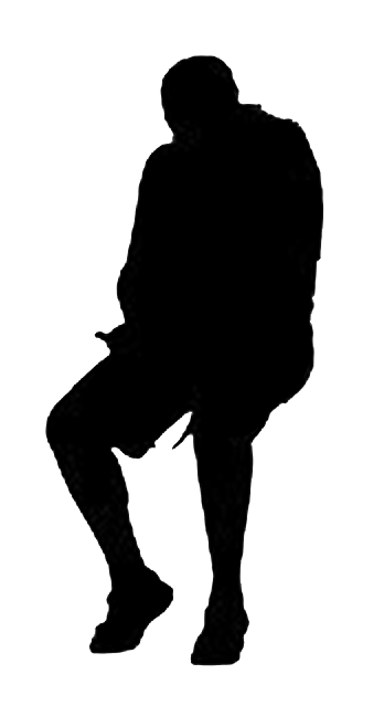 Man Sitting Silhouette Silhouette Human Silhouette Man Sitting