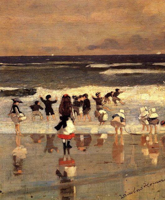 Winslow Homer (American artist, 1836-1910)  Beach Scene