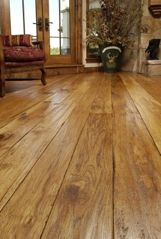 Attraktiv Hickory Hardwood Wide Plank Flooring Decorating Rustic Style