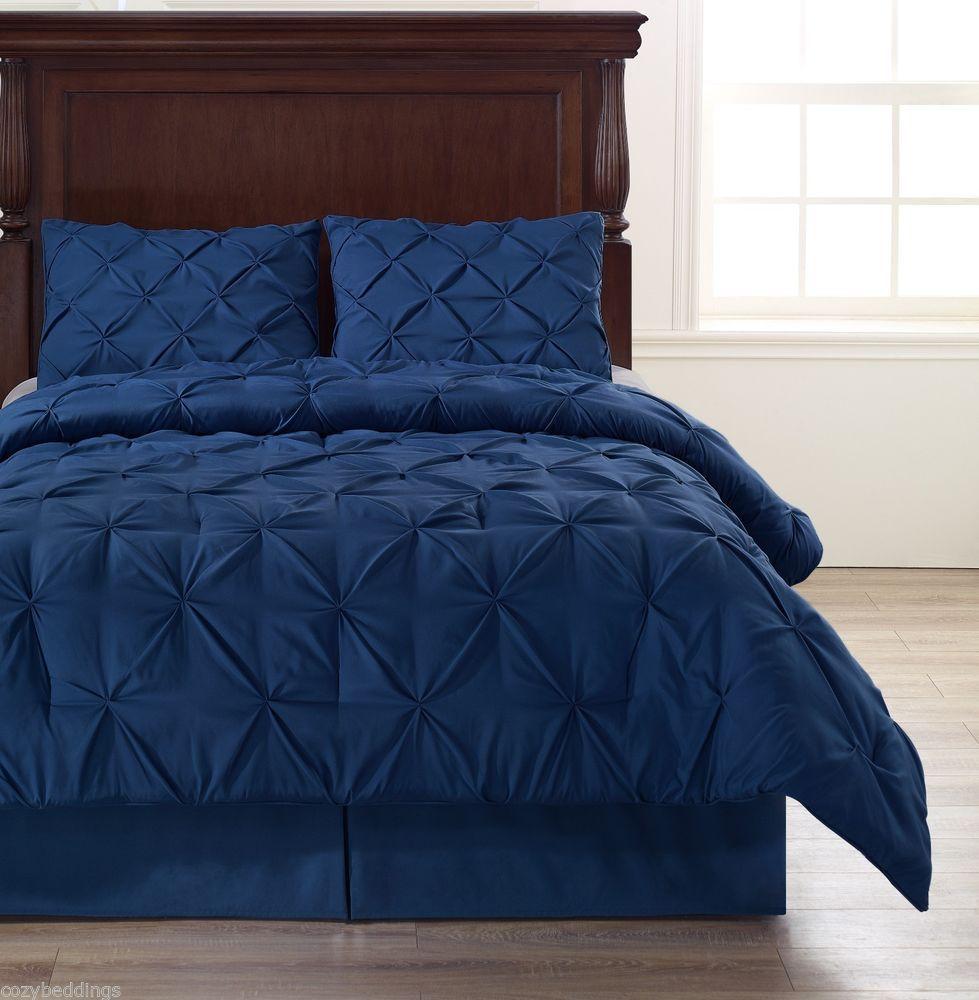 Cozy Bedroom Decor Blue Twin Size Bedroom Sets Violet Colour Bedroom Unique King Bedroom Sets: Details About Emerson 4pc Comforter Set Navy Blue