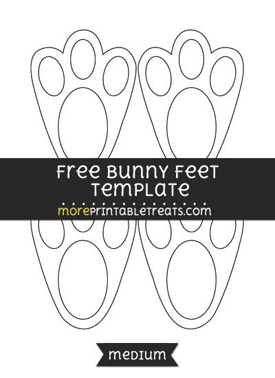 Free bunny feet template medium easter printables pinterest free bunny feet template medium pronofoot35fo Image collections