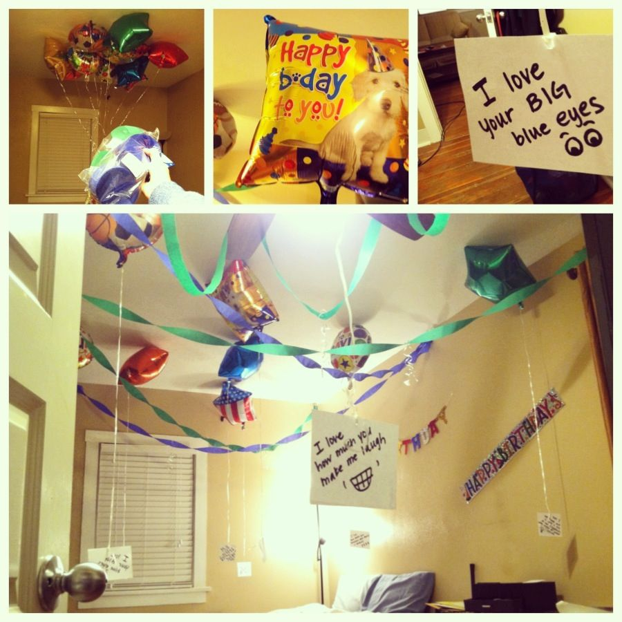 Surprises That I Did For My Boyfriend S Birthday: Surprise Birthday Decorations For The Boyfriend! He Loved
