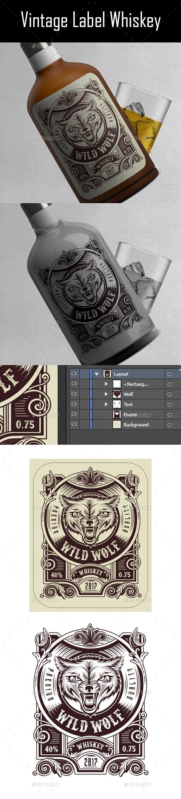 Vintage Label Whiskey v.3 | Vintage labels, Template and Print templates
