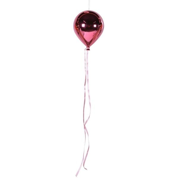 Hanging Balloon Decoration in Pink ($58) ❤ liked on Polyvore featuring home, home decor, contemporary home decor and pink home decor