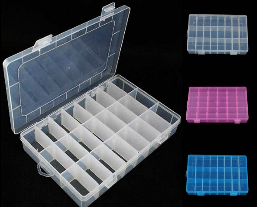 Fd1942 24 Cells Storage Box Case For Rainbow Loom Kit Rubber Bands Charms Hook Price