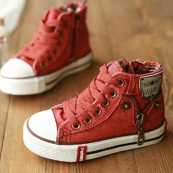 Shoes Denim Jeans Zipper Sneakers