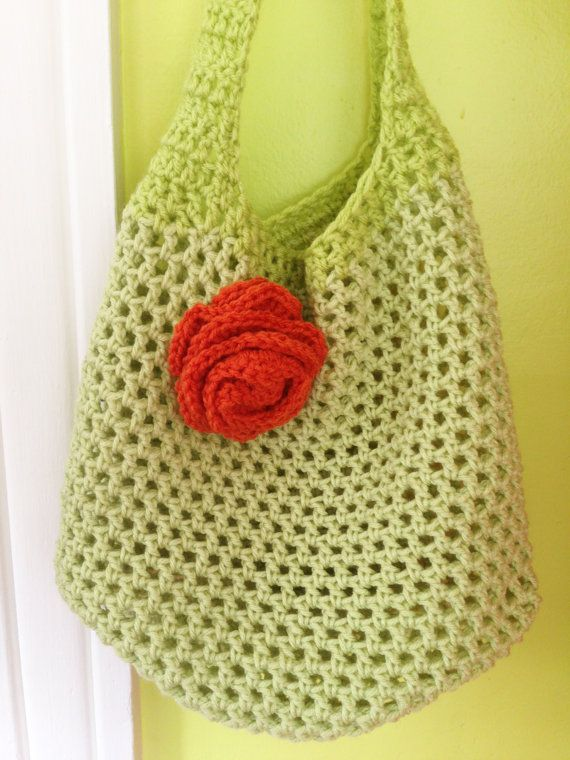 The Adelaide Crocheted Market Bag With Floral Accent Crochet