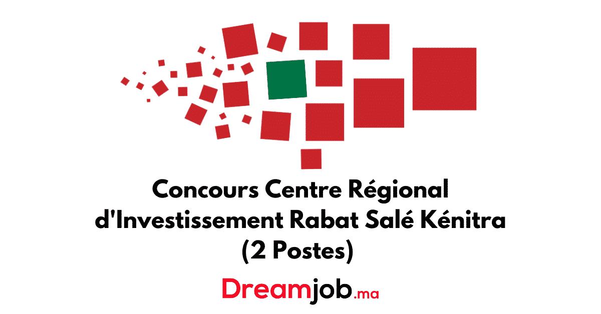 Concours Centre Regional D Investissement Rabat Sale Kenitra 2 Postes En 2021 Investissement Regional La Poste