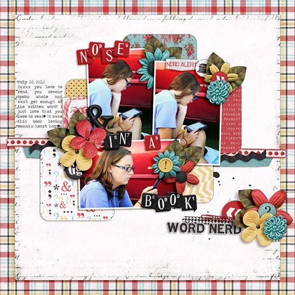 Nose In A Book - Scrapbook Scrapbook Pinterest Scrapbook