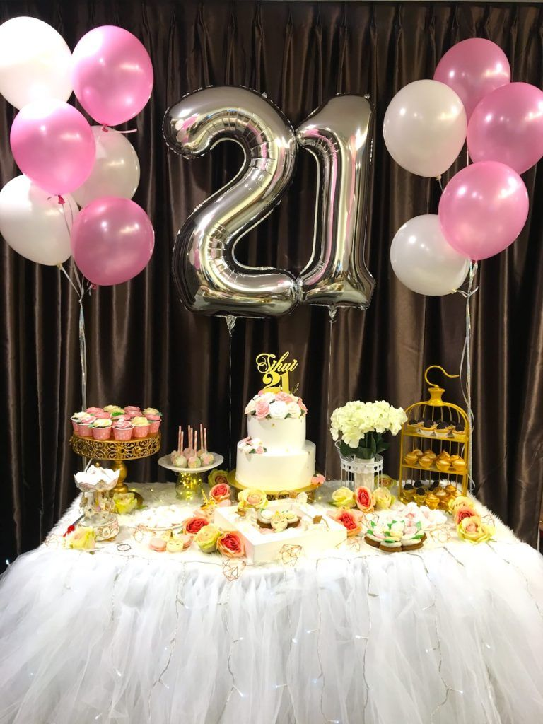 Table Decorations For 21St Birthday Party  from i.pinimg.com