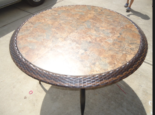 Diy Replace Glass Tabletop With Tile For Under 15 Diy House Projects Patio Tiles Revamp Furniture
