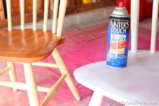 Furniture Makeover Spray Painting Wood Chairs Spray