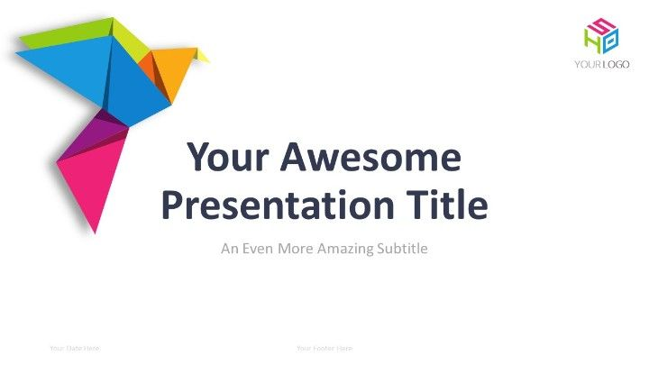 Origami PowerPoint Template - Cover Slide 2 | PowerPoint Templates ...