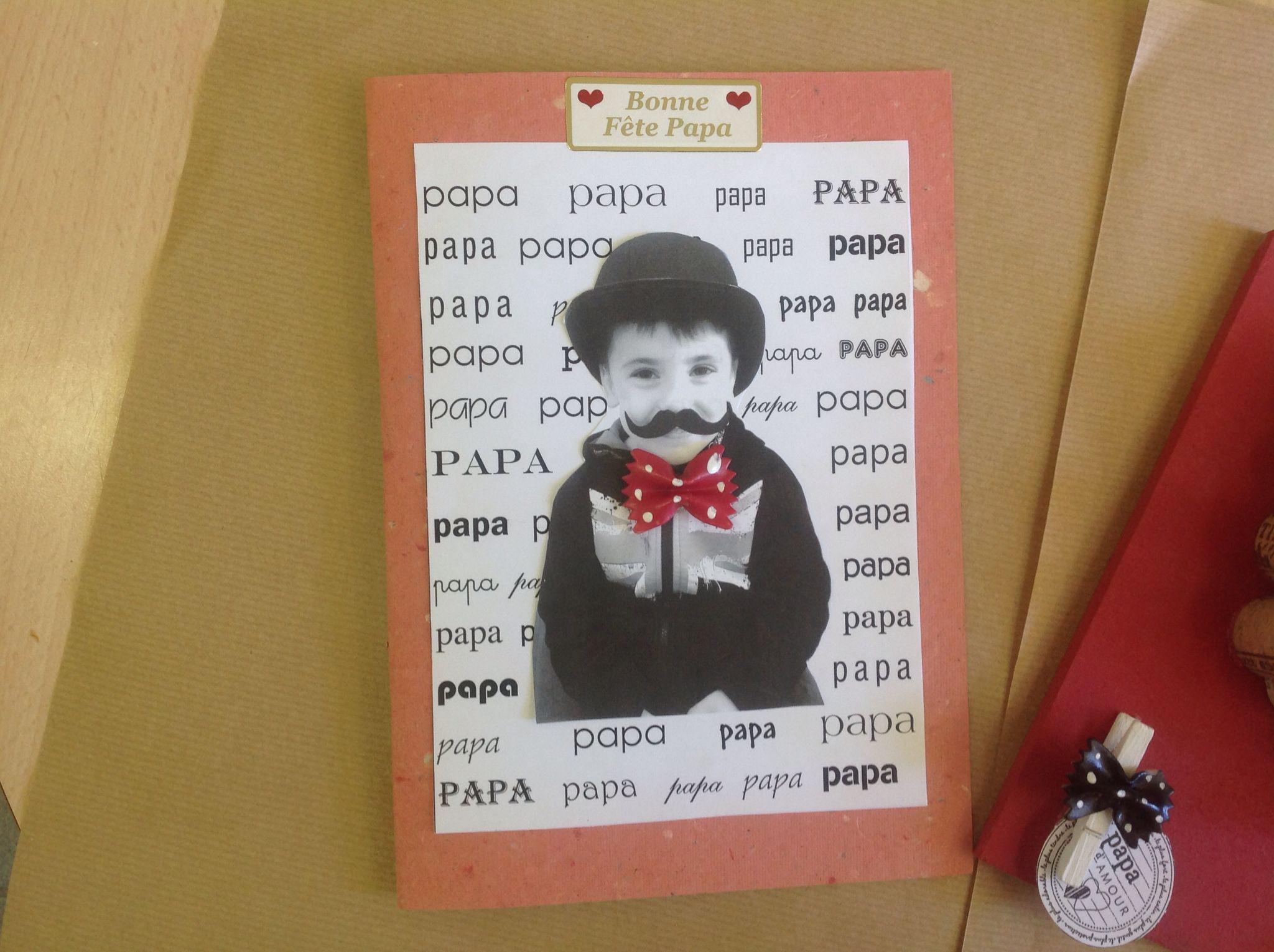 Carte fete des papas f te des p res fathers day crafts - Carte fete des peres maternelle ...
