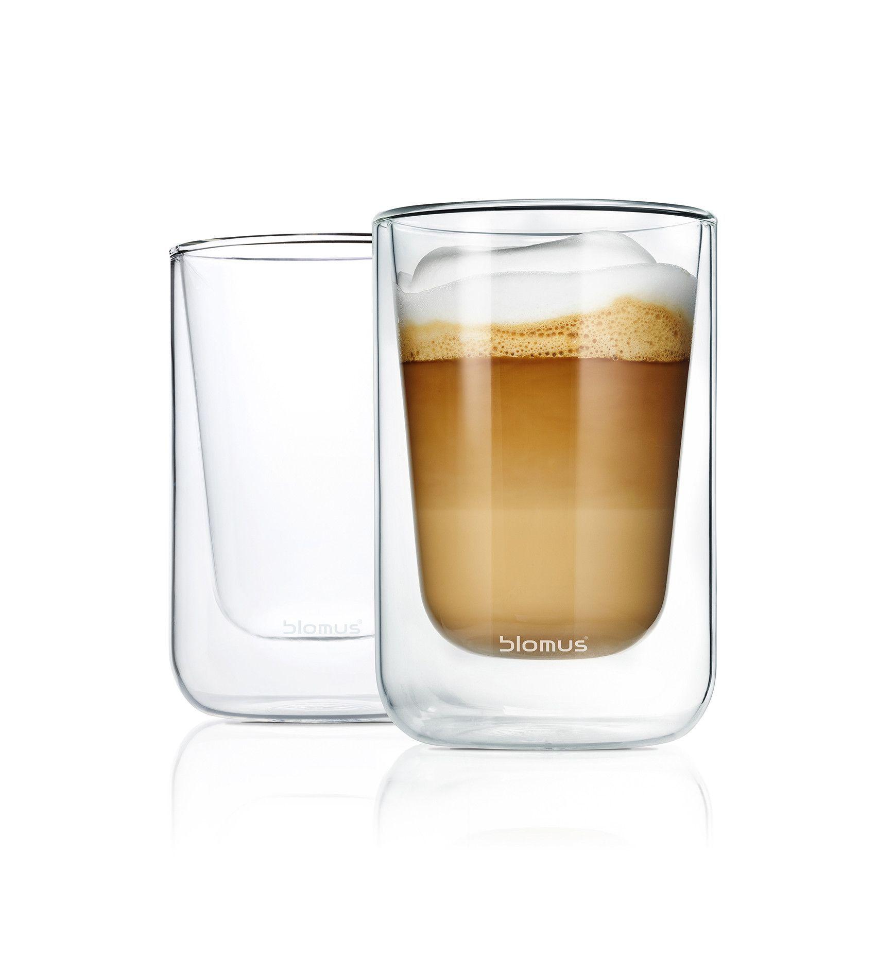 Nero Set 2 Cappuccino / Tea Glasses (Set of 2)