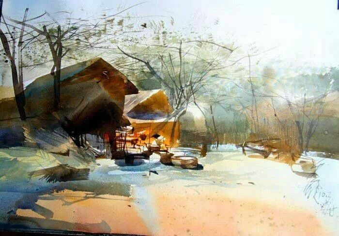 Spotlight On An Artist Ping Long Watercolor Landscape