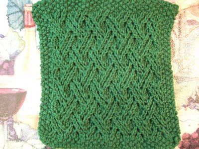 Double Lattice Cloth... ~ smariek knits love the pattern on this cloth