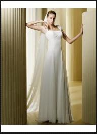 Robe de Mariée des Loisirs Mousseline Longueur ras au sol wb0029