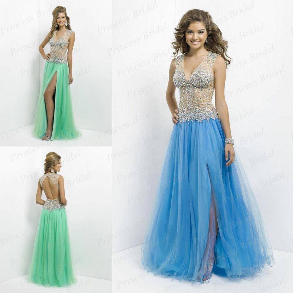 Back Open Sheath Deep Princess Cut Prom Dress | Dresses ...