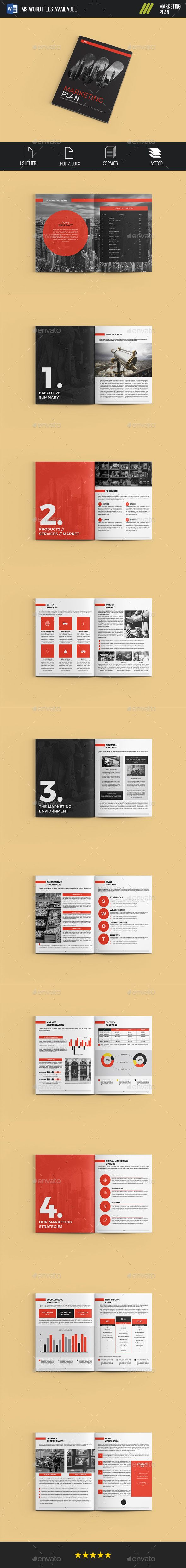 Marketing Plan Brochure Template InDesign INDD | Diseño Editorial ...
