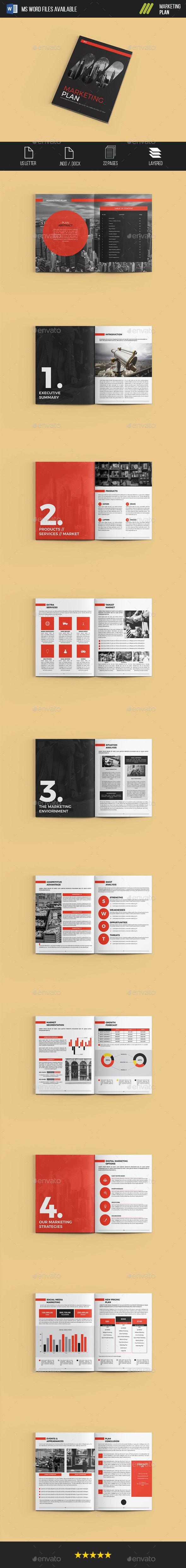 Marketing Plan Brochure Template InDesign INDD | Maquetacion ...