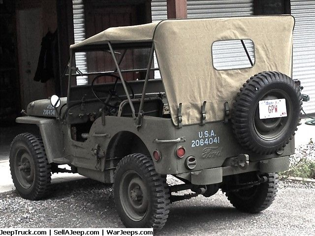 1942 Ford Script Gpw Jeep Willys Jeep Used Jeep Jeep