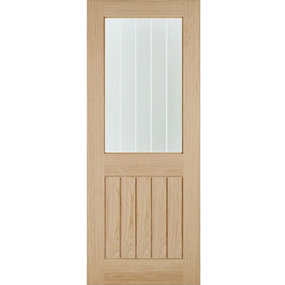 Lpd Internal Oak Belize 1 Light Silkscreen Glazed Door 33 X 78 838mm X 1981mm Door Superstore In 2020 External Oak Doors Doors Interior Internal Glazed Doors