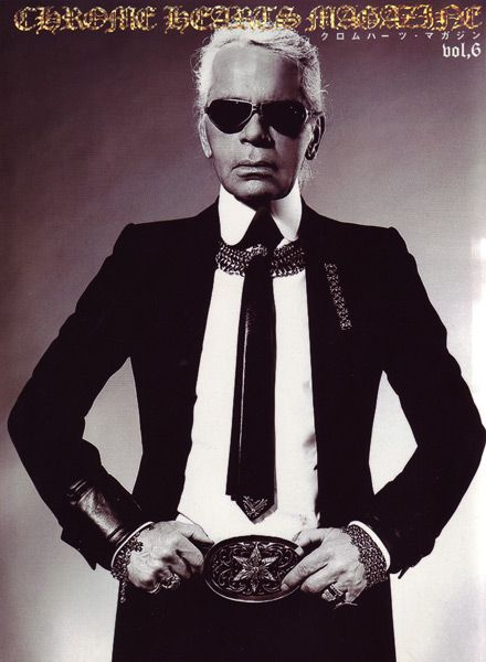 751f7fe78dc Chrome Hearts Magazine Vol 6 - Karl Lagerfeld Chrome Hearts Sterling Silver  Chain-maille Jewelry 2007 Photo  Laurie Stark Karl Lagerfeld 2007 Photo   Laurie ...