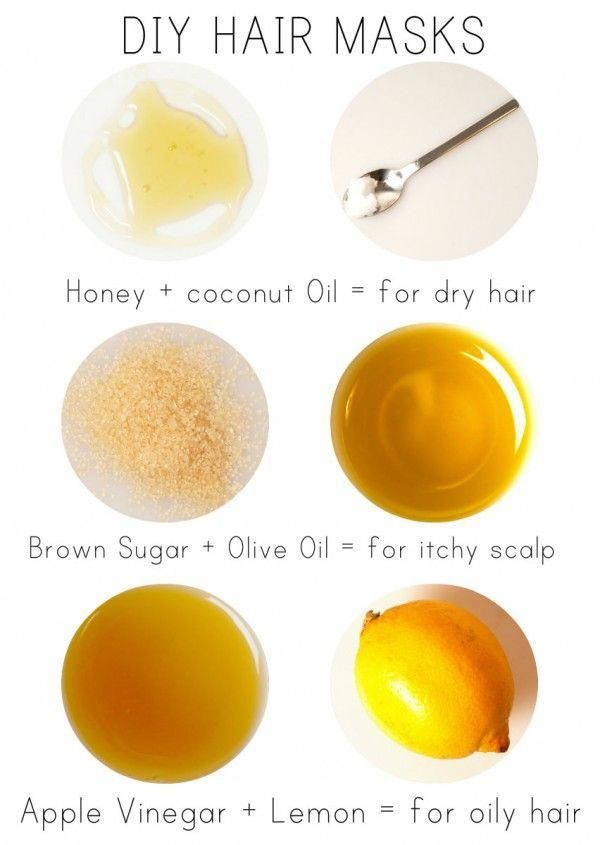3 HAIR MASKS TO TRY AT HOME! For Dry Hair, Itchy or Flaky Scalp and Oily Hair :) Get your hair looking shinier and feeling softer immediately with these DIY Hair masks. #haircare #oilyhair